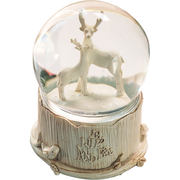 European bear deer crystal ball ornaments music box with snowflakes can shine cute music box girl male birthday gift