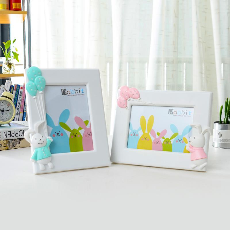 可爱卡通兔子7寸相框影楼照片框七寸韩版儿童摆台像框创意相片框