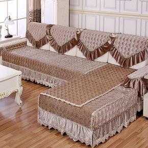 纯色沙发垫绒面防滑定制组合贵妃沙发垫靠背巾沙发套罩冬季短毛绒