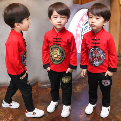 童装儿童唐装男童套装礼服中国风古装汉服男秋装宝宝小孩民族服装