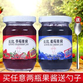 丘比果酱170g 蓝莓酱/草莓酱 涂抹面包早餐酱 奶茶店用水果酱果肉
