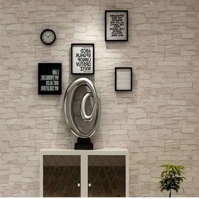 3d立体文化石壁纸 复古风pvc防水客厅卧室背景墙砖纹墙纸服装店铺哪个好