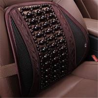 透气汽车腰靠垫司机开车木珠护腰按摩腰垫夏季靠背车用座椅腰靠枕