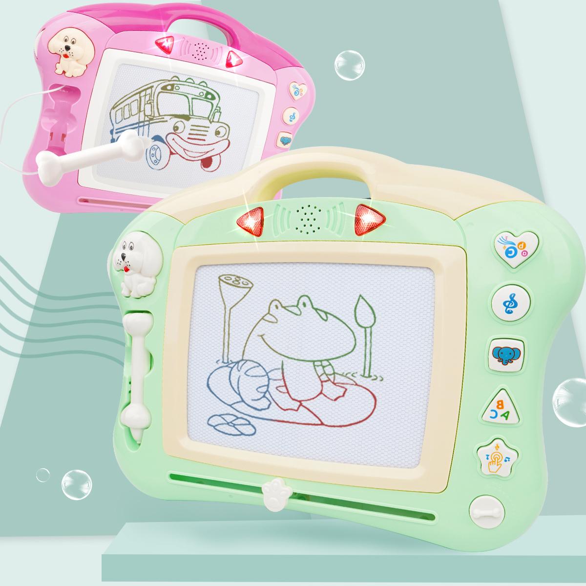 儿童画画板磁性写字板宝宝彩色涂鸦板音乐会故事小玩具1-3岁2幼儿