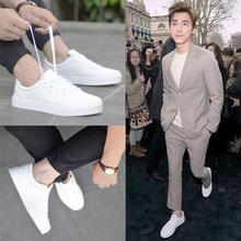 2018新款韩版百搭运动休闲白色板鞋内增高白鞋男士潮鞋小白鞋子男