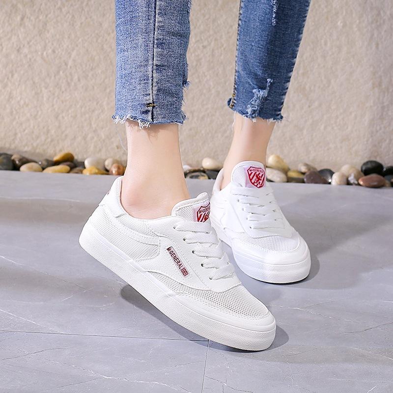 34新款春季厚底小白鞋女韩版透气休闲鞋女学生松糕跑步板鞋
