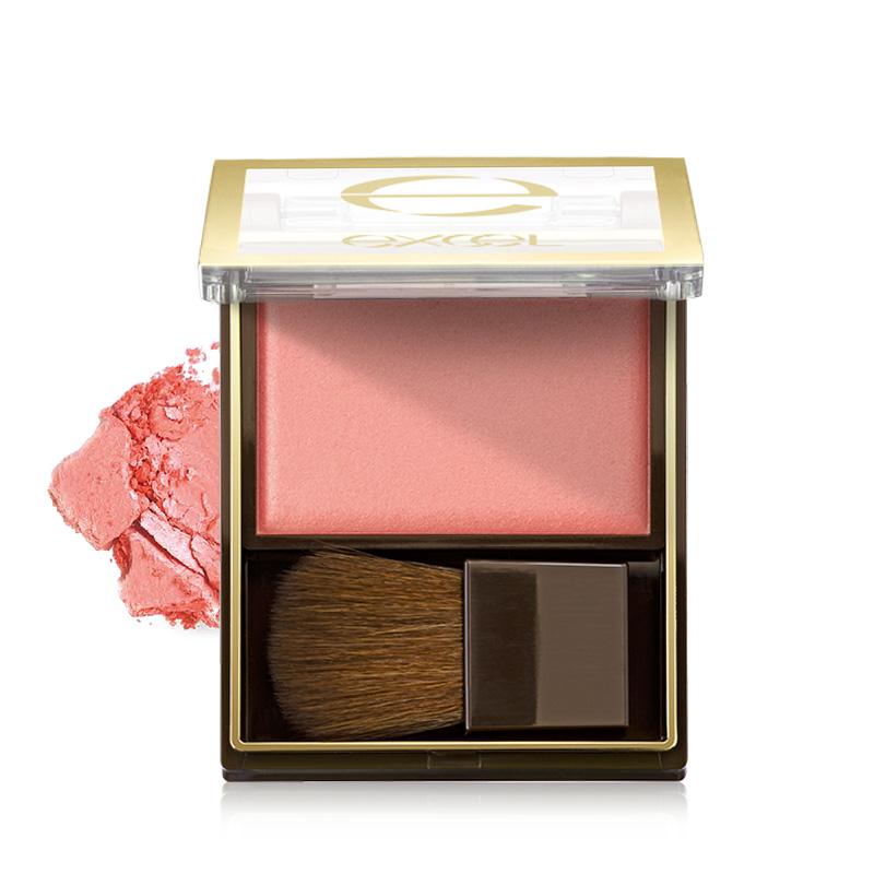 sana excel丝缎光漾胭脂腮红 保湿自然裸妆晒红粉单色带刷子日本