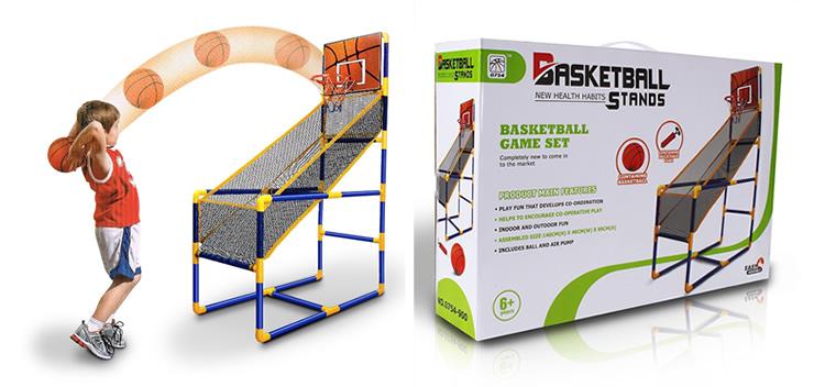 家用儿童室内外投篮机单双人篮球架可折叠儿童亲子玩具投篮游戏机