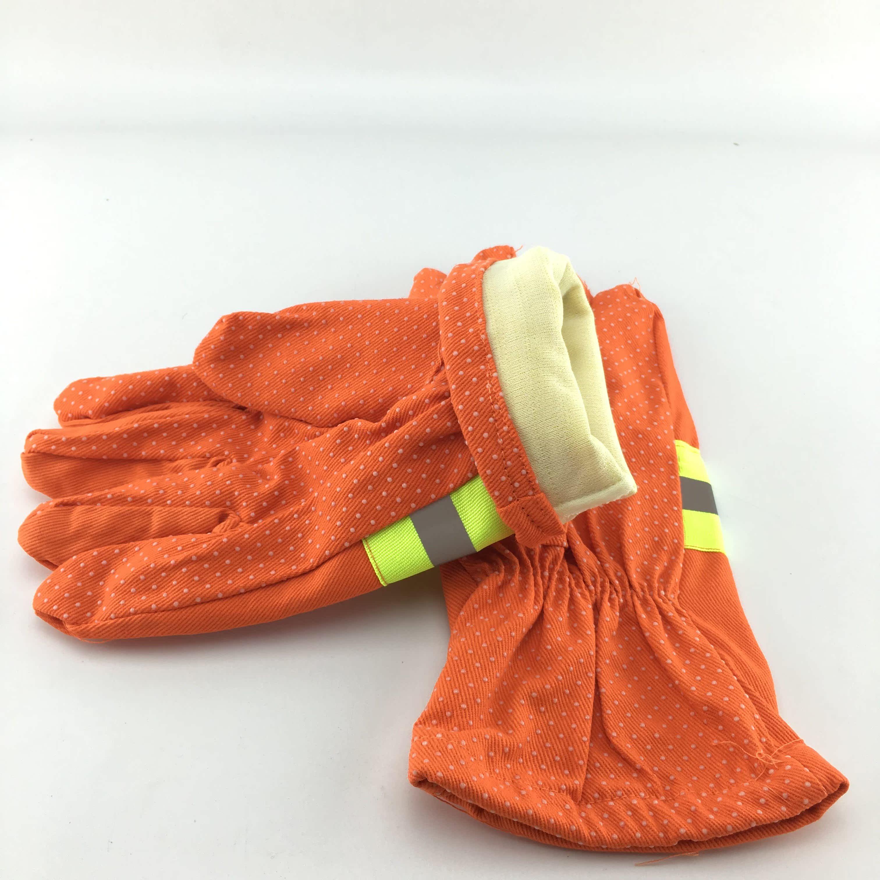 消防防护手套阻燃97款消防防滑防火带胶手套消防救援隔热手套包邮