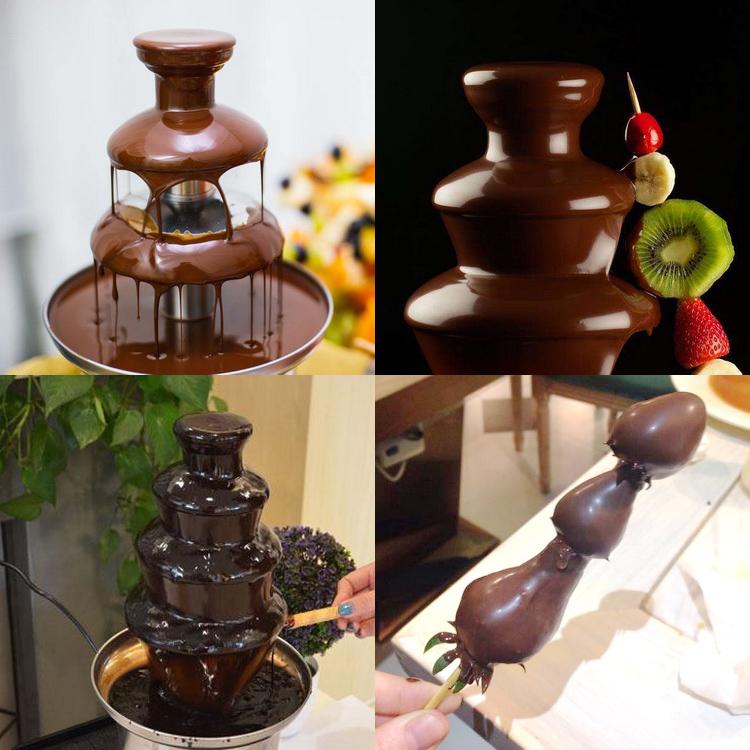 喷泉机喷泉巧克力喷泉机四层活动层巧克力迷你商用电动流动机自动