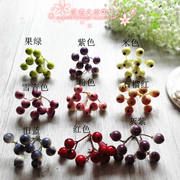 DIY simulation material tiara hair accessories decorative straw hat wedding makeup photo props garland material 9 blueberry fruit