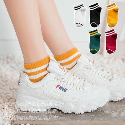 短袜袜子女韩版日系韩国学院风短筒纯棉全棉薄款夏季可爱低帮船袜