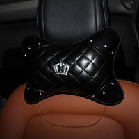 Diamond crown car interior hand brake sleeve gear cover seat belt shoulder cover head pillow pillow pillow steering wheel cover