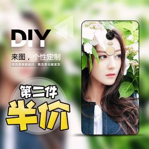 小米红米note4手机壳pro定制软4X/5A防摔套plus个性5创意照片DIY