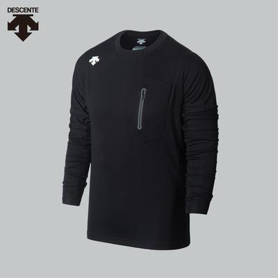 DESCENTE迪桑特长袖T恤 男子圆领运动训练长袖T恤衫D7331TTL50