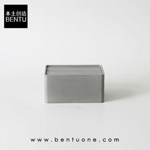 茶几桌面水泥收纳纸巾盒创意北欧ins风家用抽纸盒赠礼品摆件饰品