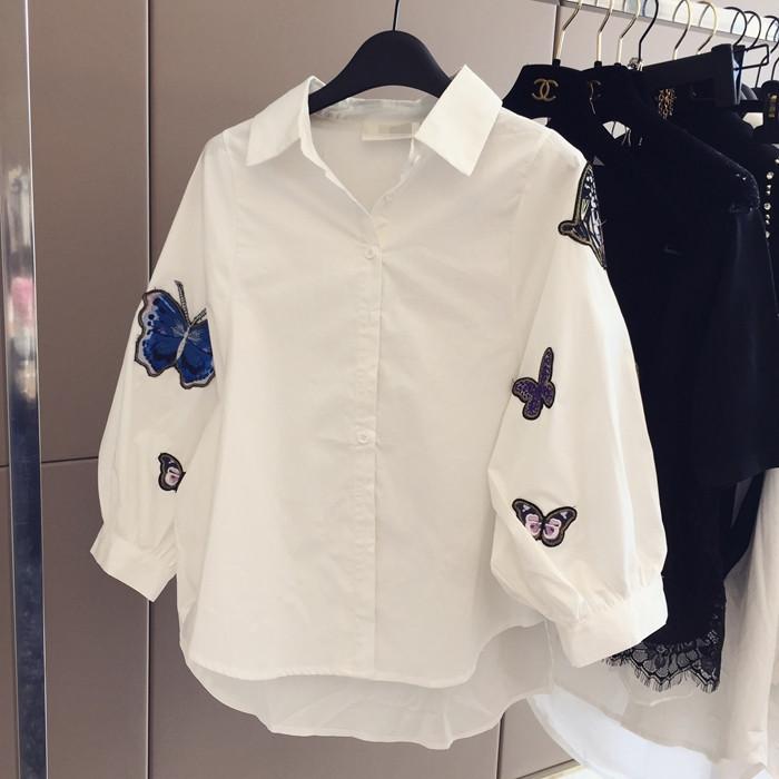 蝴蝶中袖衬衫
