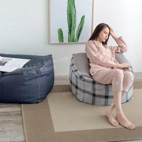 迷你创意懒人沙发 成人房间凳子卧室软沙发躺椅 单人小型布艺豆袋