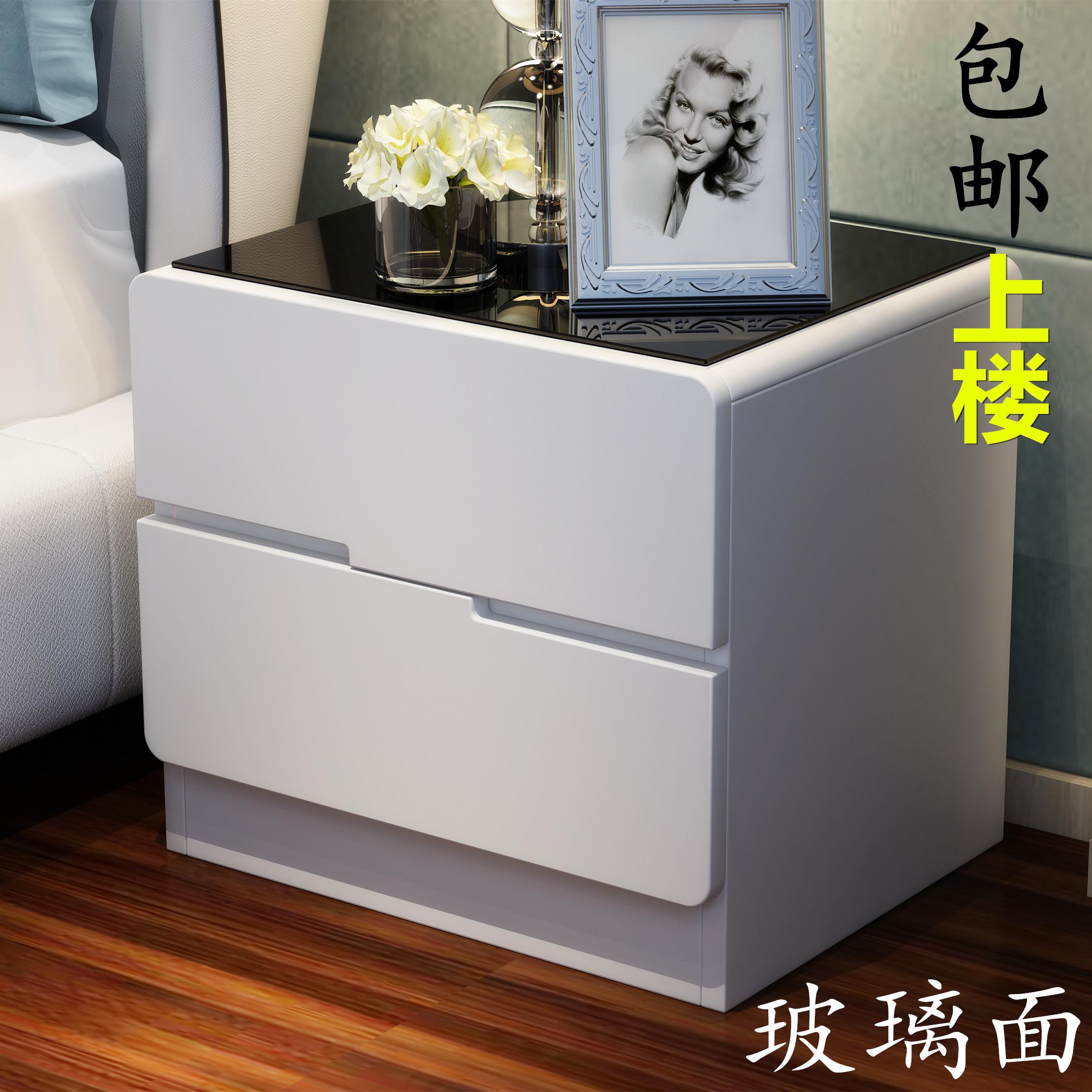 床头柜白色 现代