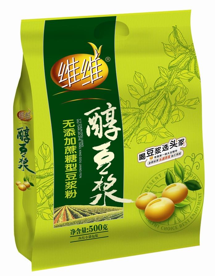 维维醇豆浆无蔗糖豆浆粉500g*2袋营养早餐冲饮袋装