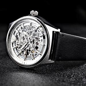 Armani阿玛尼手表男机械表男表 时尚镂空皮带男士手表男表AR60003