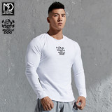 Muscle Dog Dumbbell Sports Tops Fitness Clothes Training Sweat Tights Base Jacket Long Sleeve T-Shirt Men