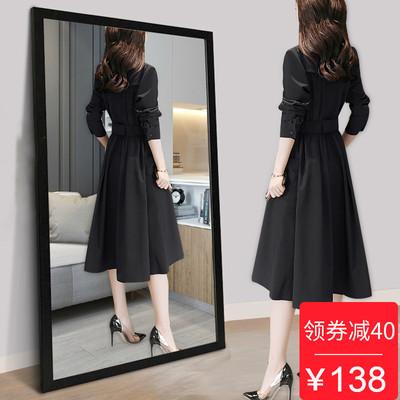 连衣裙女式春秋季长袖2018新款韩版时尚秋装中长款有女人味的裙子