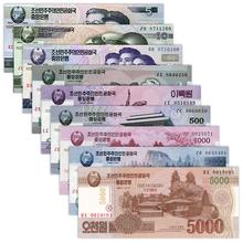全新朝鲜9张55000元金日成诞辰100周年纪念钞套钱外国钱钱