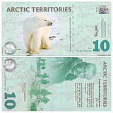 New UNC Arctic 10 yuan plastic notes Foreign coins 2010