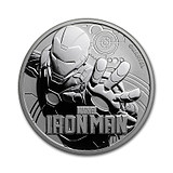 Tuvalu Marvel Superhero 1 oz Silver Coin Green Giant / Iron Man / Captain America Series