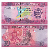 New UNC Solomon Islands 10-yuan banknotes, 100-digit trumpets, 2017 P-NEW