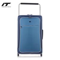 英国IT超轻拉杆箱两轮旅行箱色块拼接行李箱可登机托运软箱男女