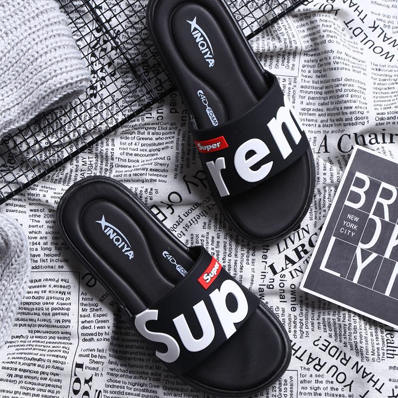 代购2019新款男士拖鞋夏潮流外穿室外防滑软底一字拖凉鞋人字凉拖