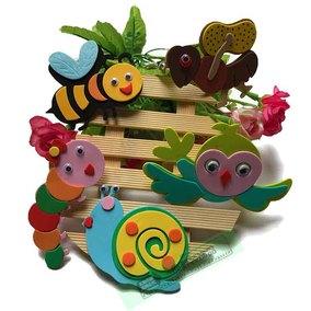 幼儿园装饰布置用品主题墙面贴画 泡沫动物 蜜蜂蜗牛小鸟瓢虫墙贴