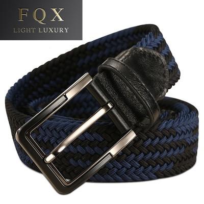 FQX编织皮带男士撞色手工休闲高尔夫腰带牛仔裤年轻人腰带JB725