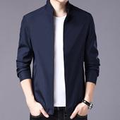 薄款 外套纯色立领茄克 中年男士 夹克衫 啄木鸟2018免烫防皱耐磨正品