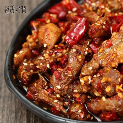唇舌之赞好吃的自贡美食小吃肉类零食麻辣兔丁冷吃兔肉