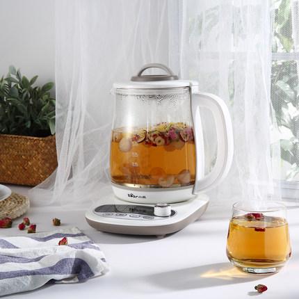 Bear/小熊 YSH-B18P1养生壶1.8升多功能加厚玻璃电煮茶迷你花茶壶