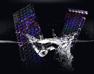 可编程快捷键底板静电接口柔软发光键盘笔记本外接连接供外形时尚
