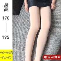 加长打底裤女高个子175冬季加厚连裤袜超长新款180肉色光腿神器