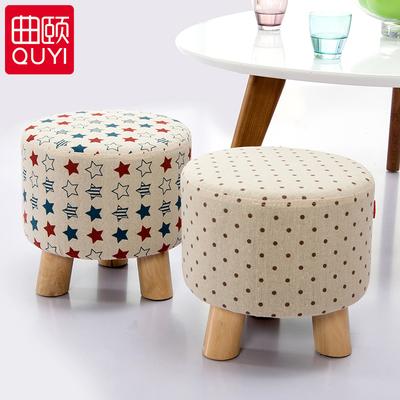 小凳子櫈子登子板凳布艺小圆凳矮凳换鞋凳沙发凳墩子茶几凳儿童凳