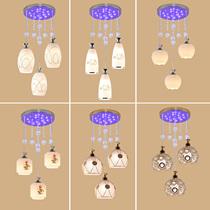 吊灯礼物酒店彩色灯罩时尚灯饭厅罩子灯新款饭厅灯