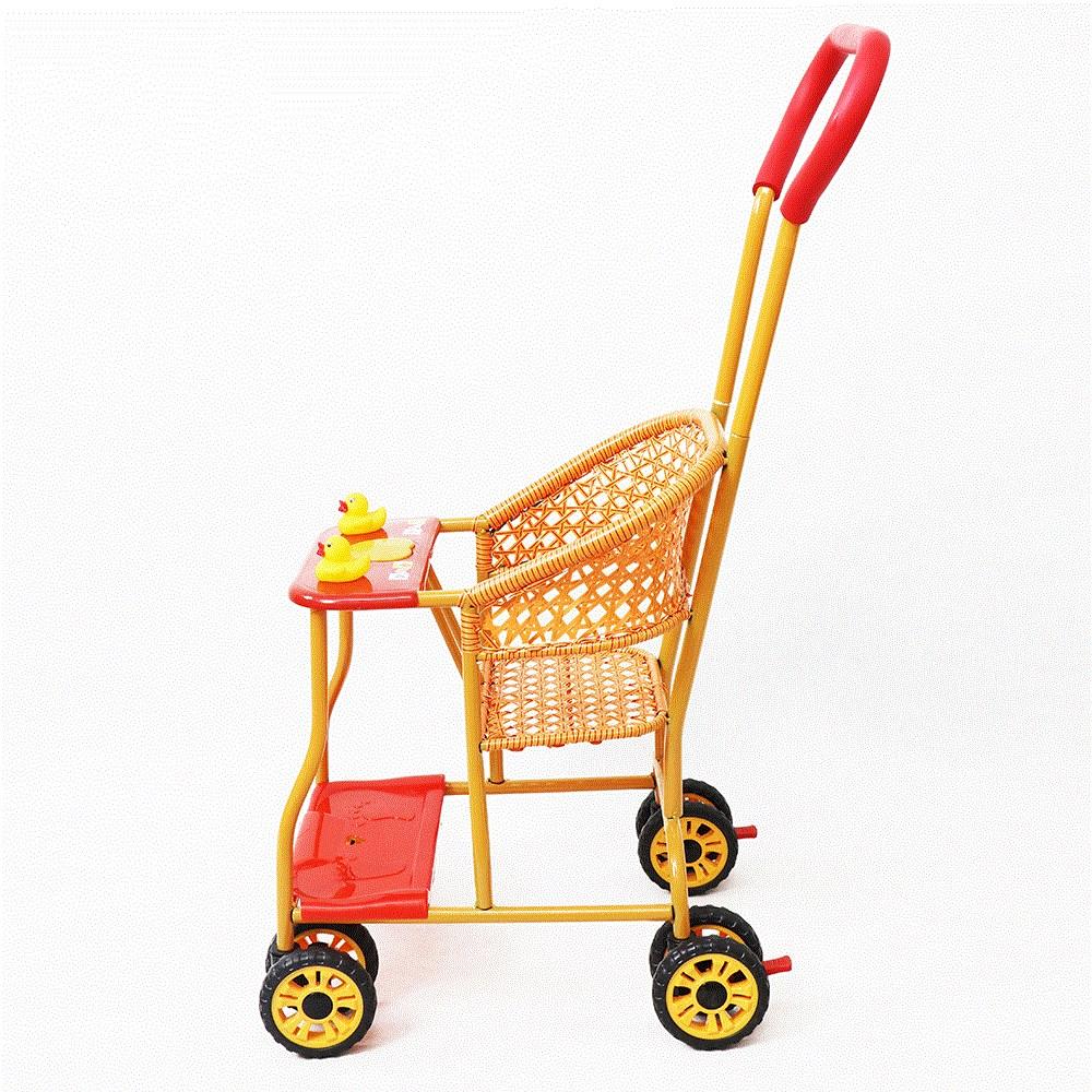 竹编儿童腾座椅推车