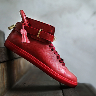 金属头男鞋