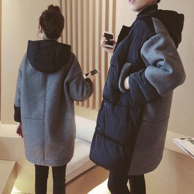 孕妇装羽绒棉衣中长款潮冬装大码外套宽松孕妇棉袄棉服大衣200斤