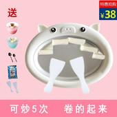 2018新款 小型迷你炒酸奶机炒冰机家用儿童DIY冰淇淋机沙冰盘