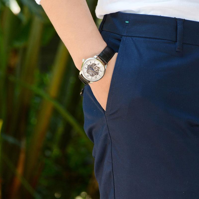 格莱诗特手表男 皮表运动潮流学生办公室型男2018新款防水机械表