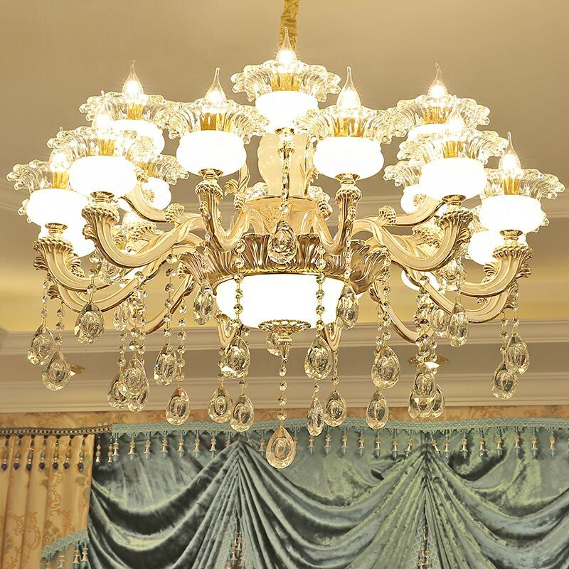 歐式客廳吊燈玉石燈