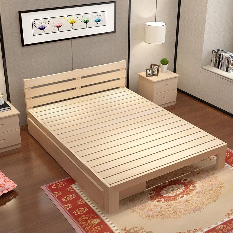榻榻米实木双人床