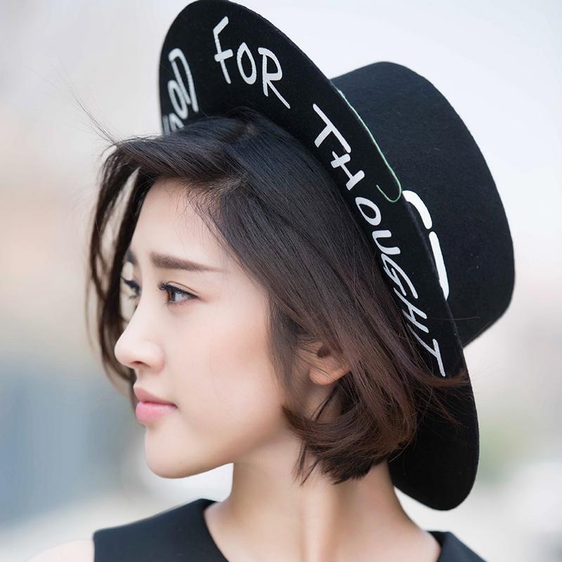 黑色潮流平檐帽